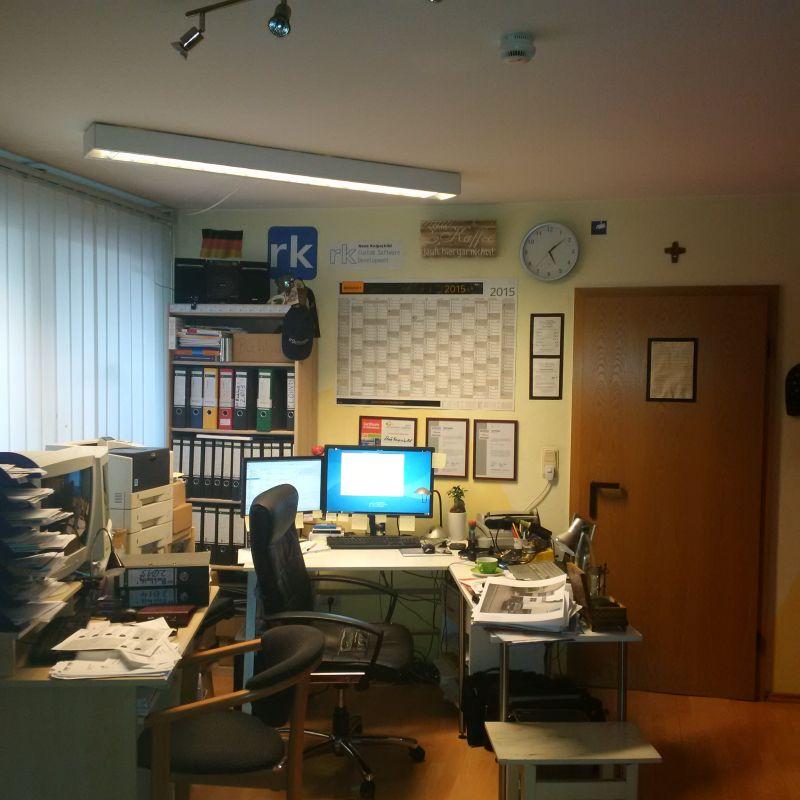 Unsere Wurzeln: Das erste rkCSD-Büro im Keller eines Wohnhauses